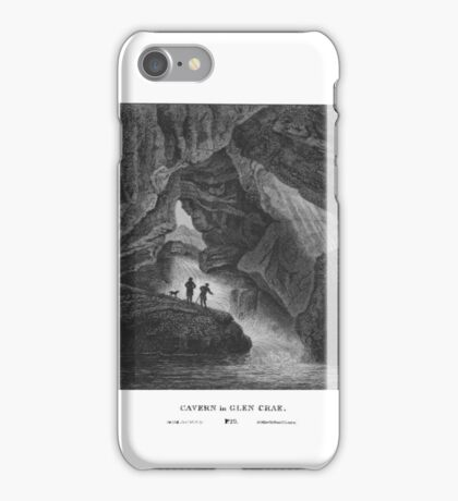 Scotia Depicta by by James Fittler - Cavern in Glen Crae - Etchings of towns, castles and scenery from Scotland in the early 19th century iPhone Case/Skin