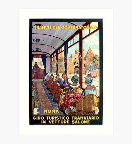 Rome Italy Interior luxury tourist tram Italian travel Art Print