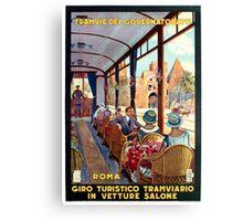 Rome Italy Interior luxury tourist tram Italian travel Canvas Print