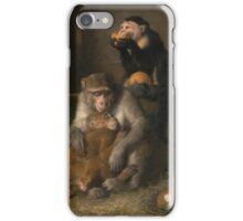 Sir Edwin Henry Landseer DOCTOR'S VISIT TO POOR RELATIONS AT THE ZOOLOGICAL GARDENS iPhone Case/Skin