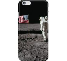 U.S. Astronaut Buzz Aldrin saluting the flag of the United States on the Moon, during Apollo 11 EVA activity. iPhone Case/Skin
