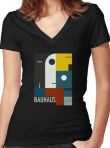 BAUHAUS AGE Women's Fitted V-Neck T-Shirt