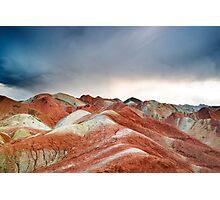Crazy Land Under Crazy Sky Photographic Print