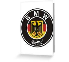 BMW Logo limited Greeting Card