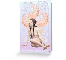 Ninfa de las flores Greeting Card