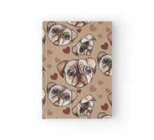 Pug Love I love pugs Hardcover Journal