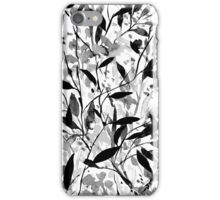 Wandering Wildflowers Black and White iPhone Case/Skin