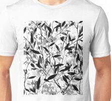Wandering Wildflowers Black and White Unisex T-Shirt