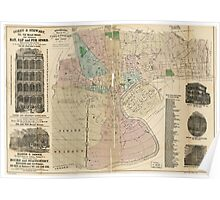Holbrook's Map of Newark New Jersey (1875) Poster