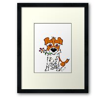 JACK RUSSELL PUPPY DOG CIAKY ROCK Framed Print