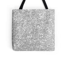 Black and white Sackcloth texture Tote Bag