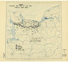 July 19 1944 World War II HQ Twelfth Army Group situation map Photographic Print