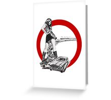 Demolition Derby Girl Greeting Card