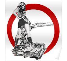 Demolition Derby Girl Poster