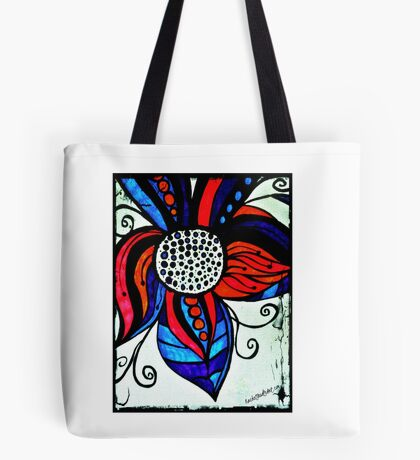 Rachel Doodle Art - Colorful Flower Tote Bag