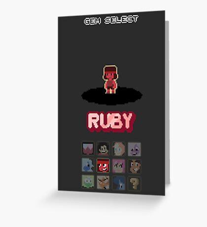 Gem Select - Ruby Greeting Card