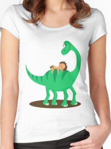 Arlo the good dinosaur Women's Fitted Scoop T-Shirt
