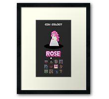 Gem Select - Rose Framed Print