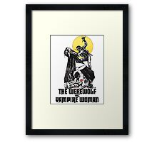 Werewolf vs Vampire Woman Framed Print