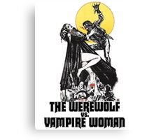 Werewolf vs Vampire Woman Canvas Print