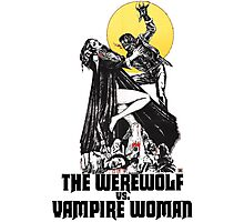Werewolf vs Vampire Woman Photographic Print