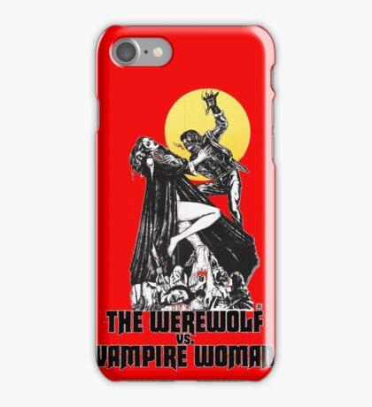 Werewolf vs Vampire Woman iPhone Case/Skin