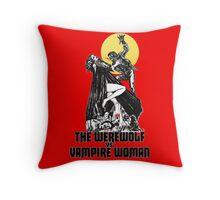 Werewolf vs Vampire Woman Throw Pillow