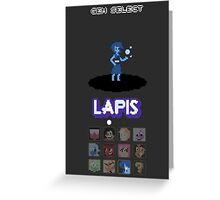 Gem Select - Lapis Greeting Card