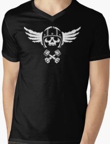 Biker Spirit Mens V-Neck T-Shirt