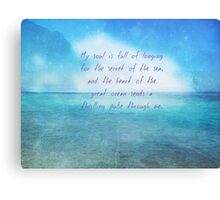 Sea ocean quote by Henry Wadsworth Longfellow Canvas Print