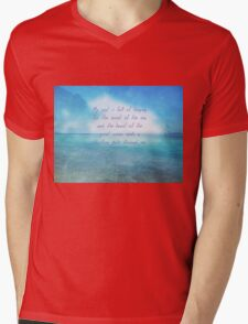 Sea ocean quote by Henry Wadsworth Longfellow Mens V-Neck T-Shirt