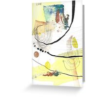 Summer Beach Abstract Cute Chill Painting Greeting Card