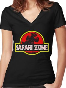 Safari zone Women's Fitted V-Neck T-Shirt