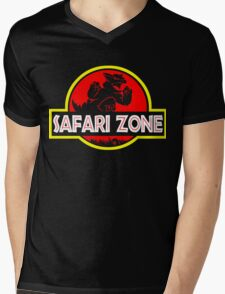 Safari zone Mens V-Neck T-Shirt