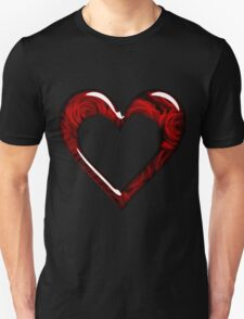 Love Heart Red Flowers T-Shirt