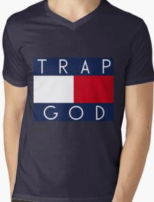 Trap God Mens V-Neck T-Shirt