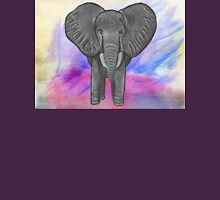 Charcoal Elephant on Watercolor Unisex T-Shirt