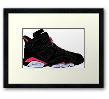 "Air Jordan VI (6) ""Black Infrared"" Framed Print"