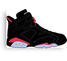 "Air Jordan VI (6) ""Black Infrared"" Canvas Print"