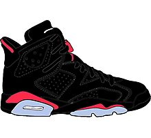 "Air Jordan VI (6) ""Black Infrared"" Photographic Print"