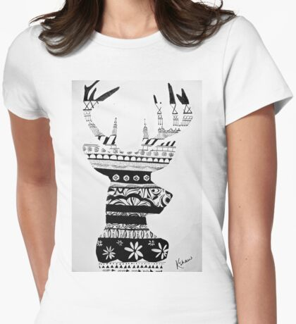 Whitetail Remix Womens Fitted T-Shirt