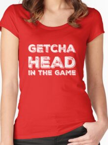 Getcha Head In The Game in white Women's Fitted Scoop T-Shirt