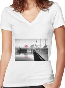 Grain Belt Women's Fitted V-Neck T-Shirt