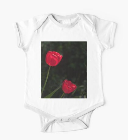 Two Red Tulips One Piece - Short Sleeve