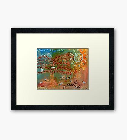 free to flower Framed Print