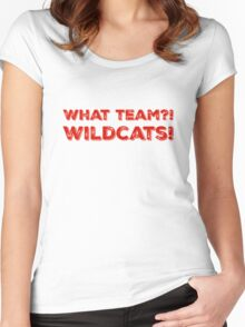 What Team?! WILDCATS! in red Women's Fitted Scoop T-Shirt