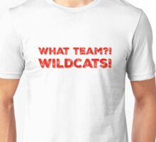 What Team?! WILDCATS! in red Unisex T-Shirt