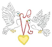 Doves of Love  Photographic Print