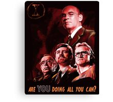 X-Files Lone Gunman Propaganda  Canvas Print