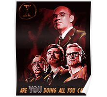 X-Files Lone Gunman Propaganda  Poster